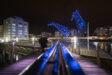 illuminations; grues; André Malraux; éclairage; presqu'ile André Malraux; développement durable; mise en lumière © Photo : Jérôme Dorkel, Eurométropole de Strasbourg